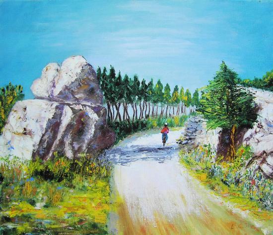"""""""La route bleue""""de  F. Gauthier"""